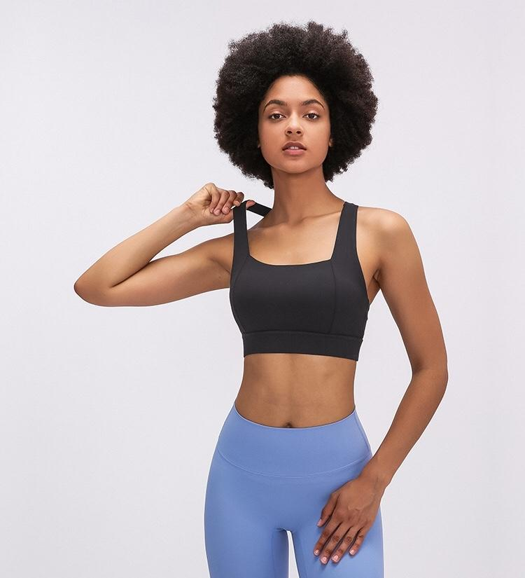 black Power Sports Bra bras Mindfulness-HOP