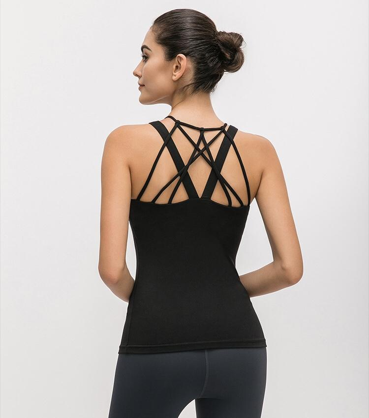 Black Echo 2 in 1 Top Mindfulness-HOP Black XS