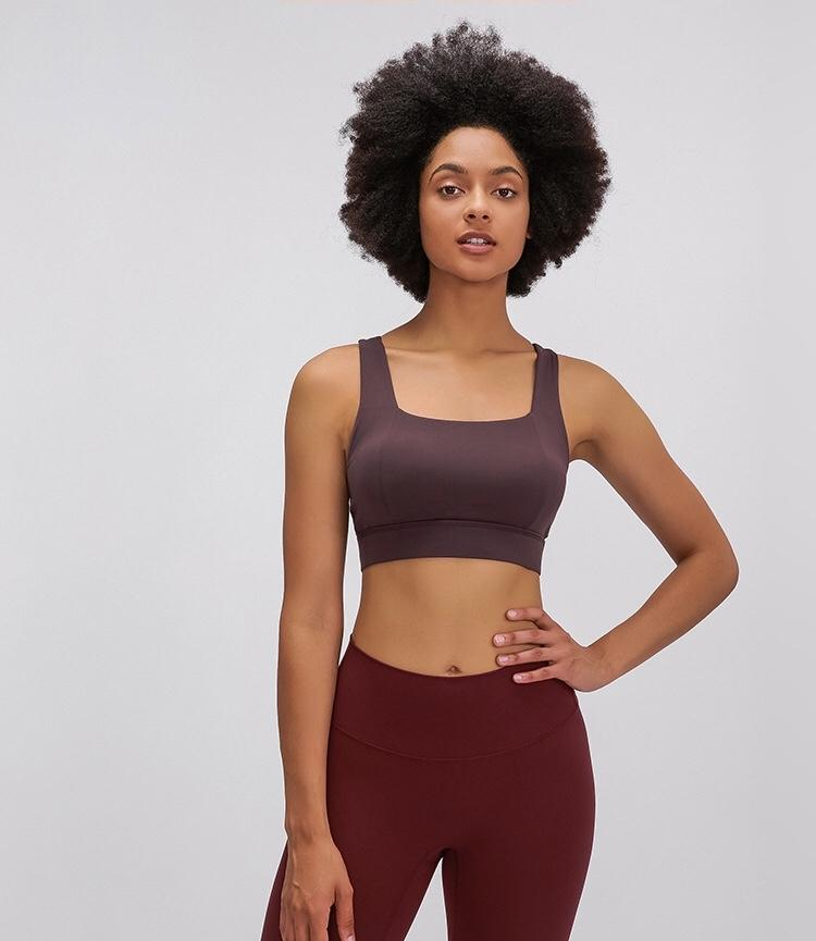 chestnut Power Sports Bra bras Mindfulness-HOP