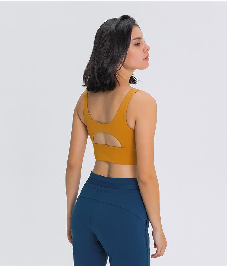 Golden Wheat Brown Dosha Sports Bra bras Mindfulness-HOP Activewear