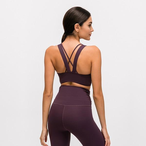 Reddish Purple Nadi Sports Bra bras Mindfulness-HOP