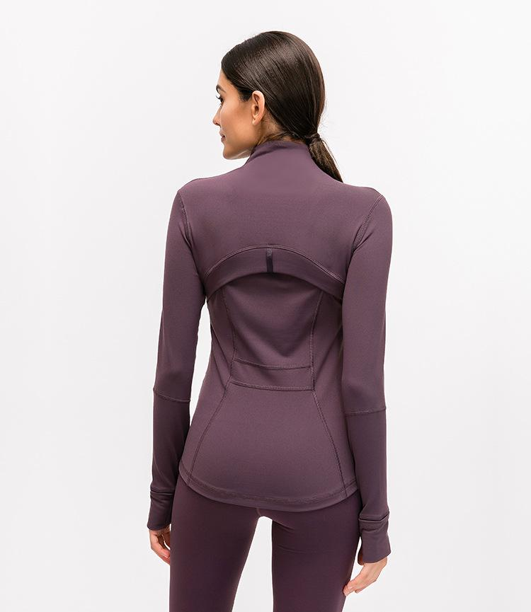 Reddish Purple Elevate Zipper Jacket Tops Mindfulness-HOP