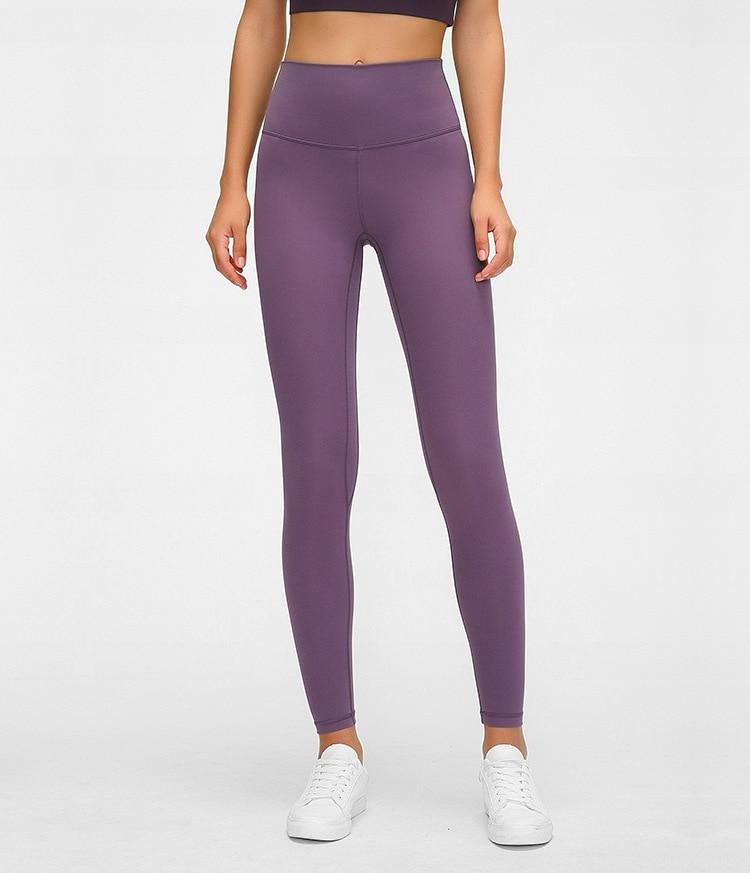Iris Purple High Waist Leggings New Colours Yoga Pants Mindfulness-HOP Iris Purple 2-xxs