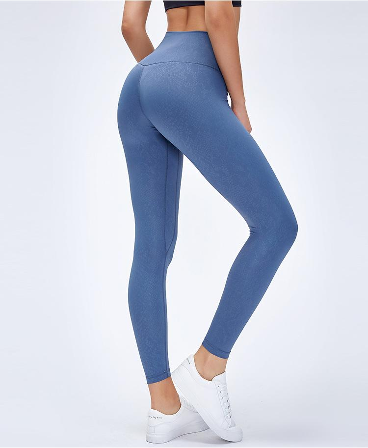Limited Edition: Blue Sky Ash Leggings Yoga Pants Mindfulness-HOP