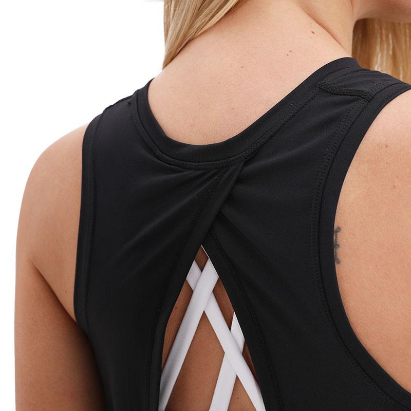 black Asana Sleeveless Top Tops Mindfulness-HOP