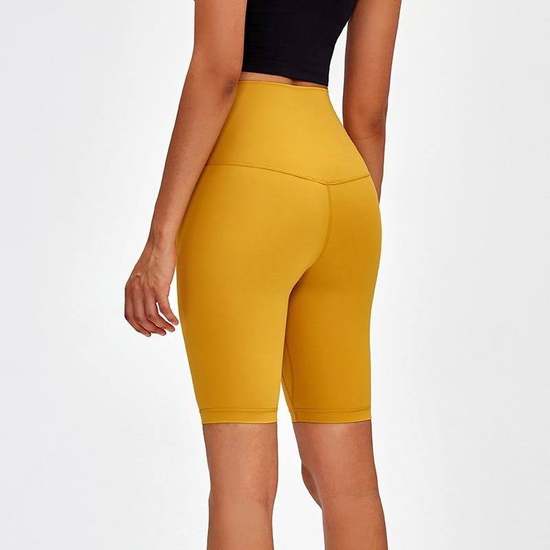 Yellow Mantra Super High Waist Biker Shorts bikers Mindfulness-HOP Activewear