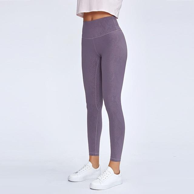 Limited Edition: Violet Sky Ash Leggings Yoga Pants Mindfulness-HOP Sky Ash 12-XL