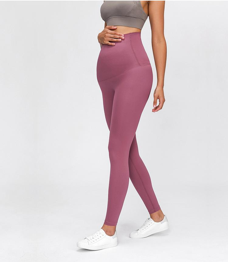 West Fuchsia Queen Mama to Be Leggings Yoga Pants Mindfulness-HOP West fuschia 4-XS