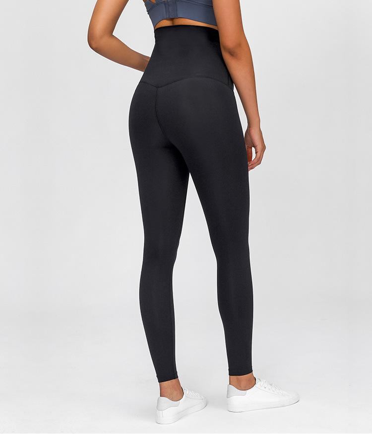 Black Queen Mama to Be Leggings Yoga Pants Mindfulness-HOP