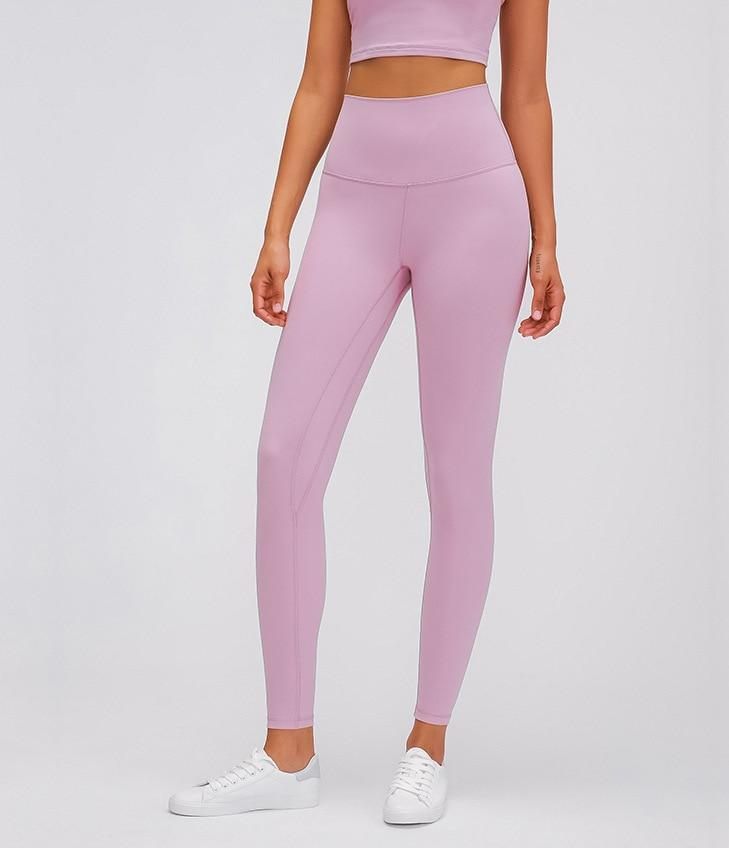 Pink Super High Waist Rythm Leggings Yoga Pants Mindfulness-HOP Pink 2-XXS
