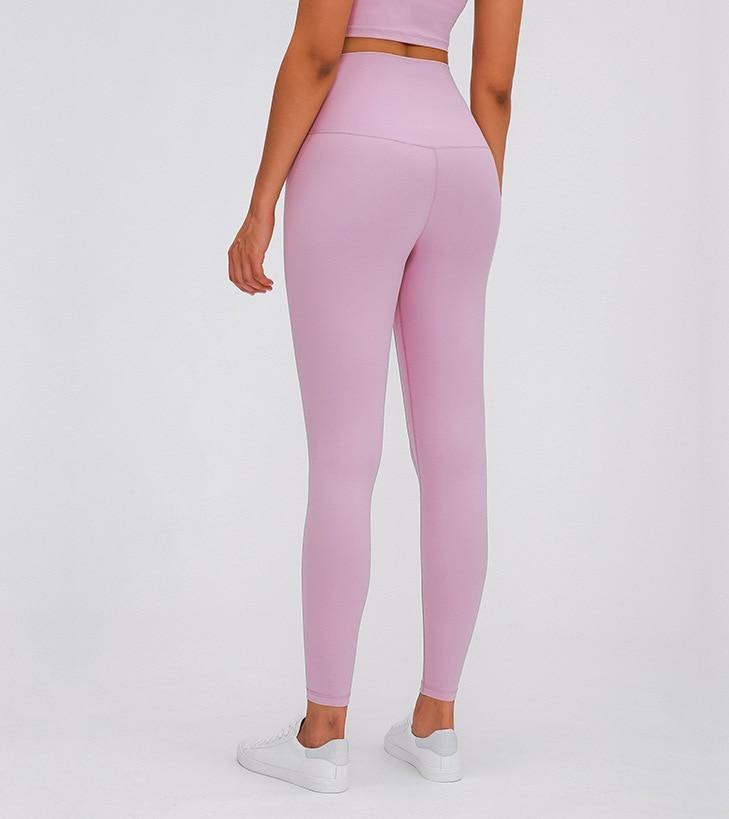 Pink Super High Waist Rythm Leggings Yoga Pants Mindfulness-HOP