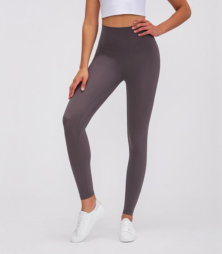 Gray Super High Waist Rythm Leggings Yoga Pants Mindfulness-HOP