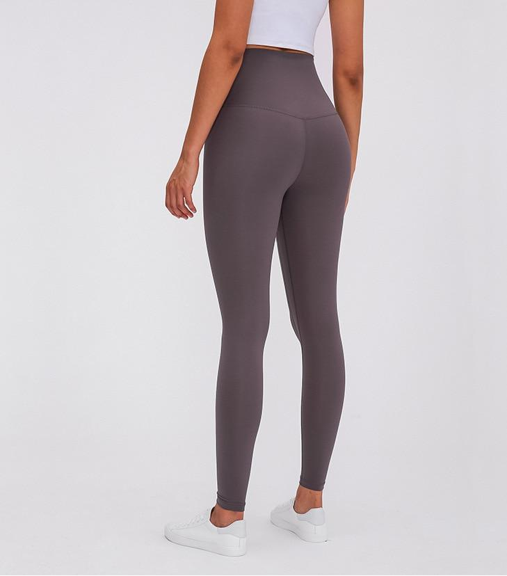 Gray Super High Waist Rythm Leggings Yoga Pants Mindfulness-HOP Gray 2-XXS