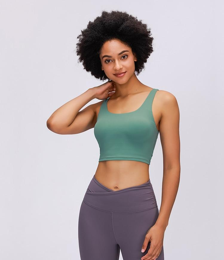 Bean Green Sadhana Sports Bra bras Mindfulness-HOP Activewear