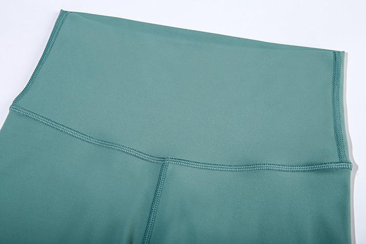 Bean Green High Waist Biker Shorts bikers Mindfulness-HOP Activewear
