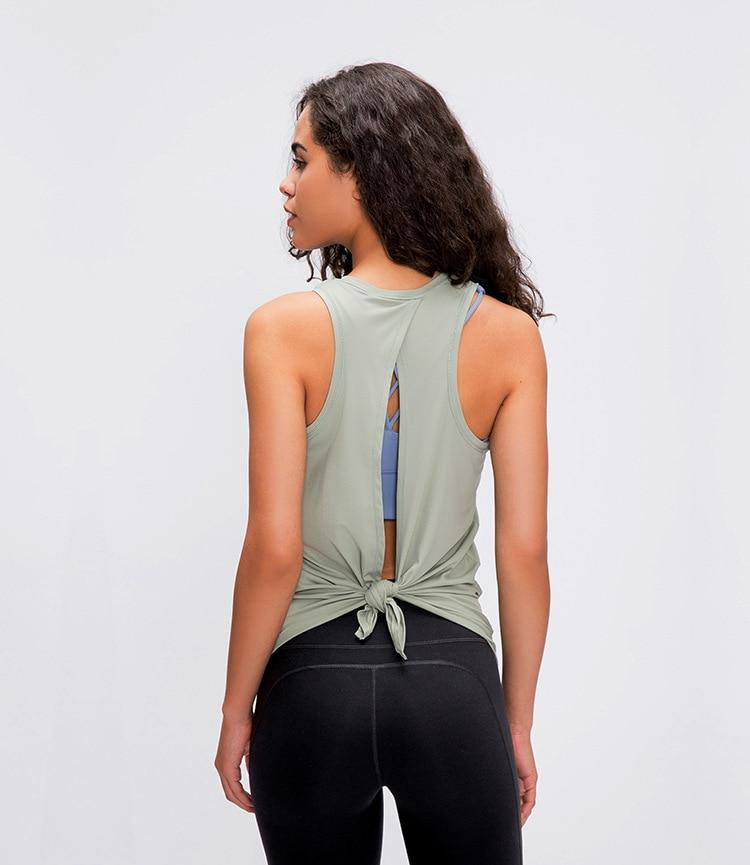 Water Green Asana Sleeveless Top Mindfulness-HOP Activewear