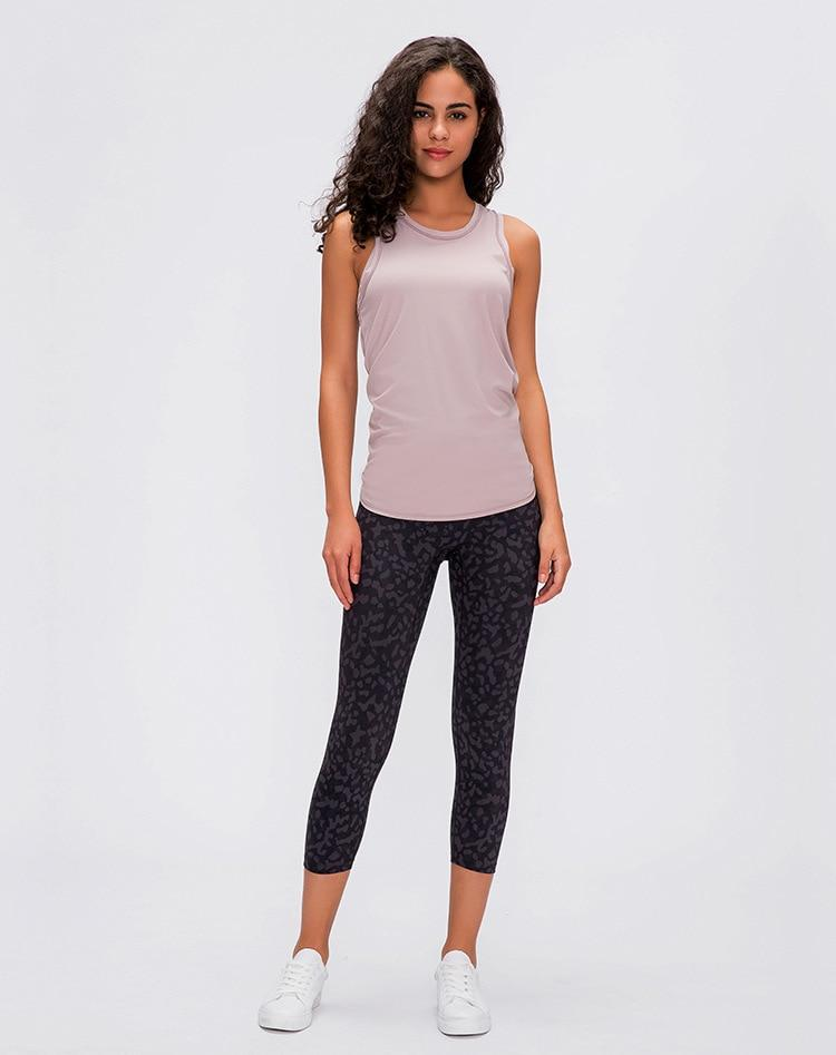 Dark Pink Asana Sleeveless Top Mindfulness-HOP Activewear