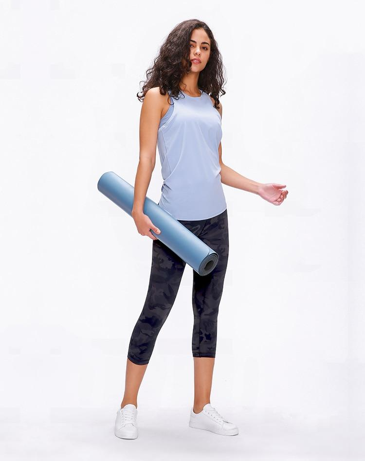 Light Sky Blue Asana Sleeveless Top Mindfulness-HOP Activewear