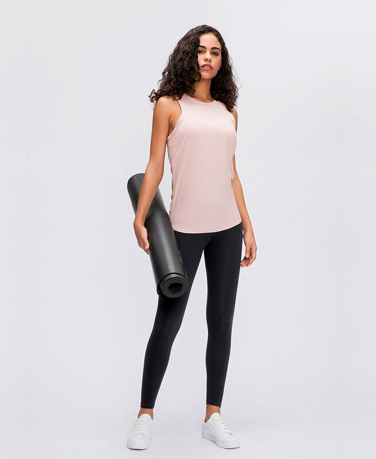 Champagne Pink Asana Sleeveless Top Mindfulness-HOP Activewear