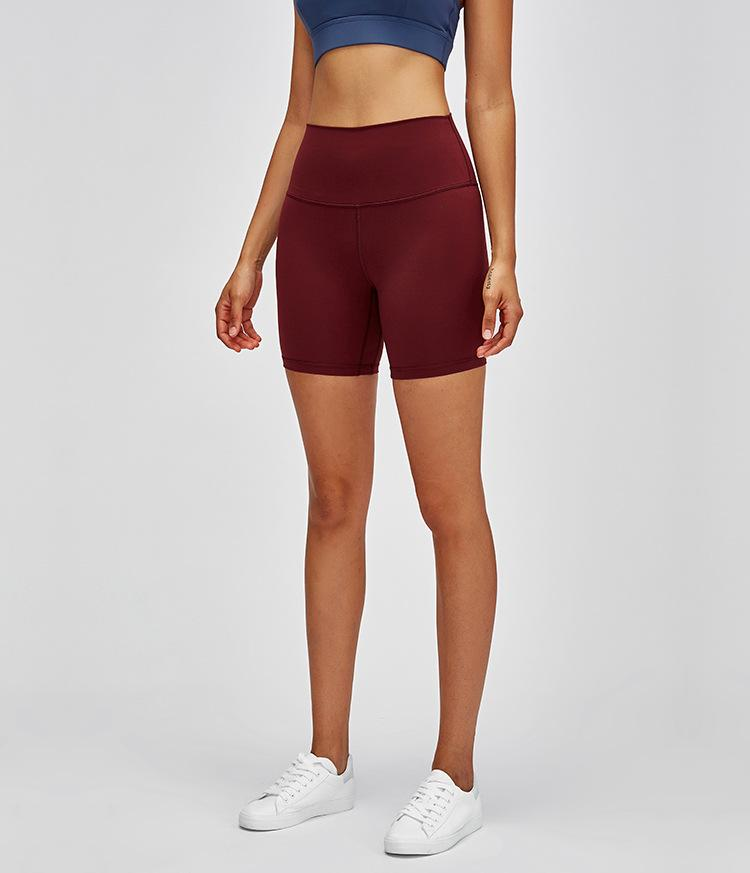 Deep Red 9.0 Seamless High Waist Shorts shorts Mindfulness-HOP Activewear