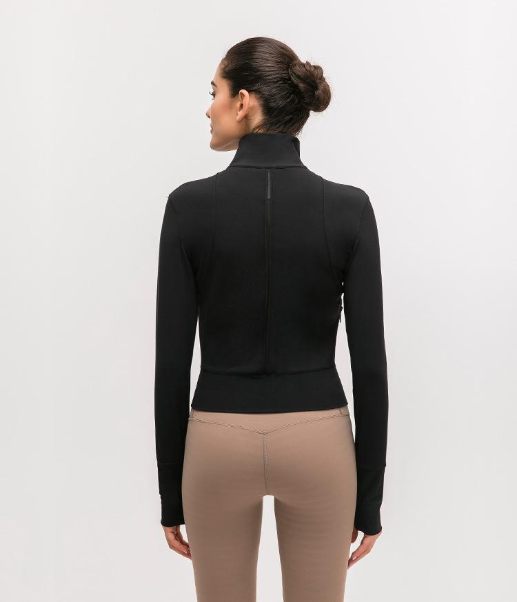 Black On The Move Zipper Jacket Jackets Mindfulness-HOP Activewear
