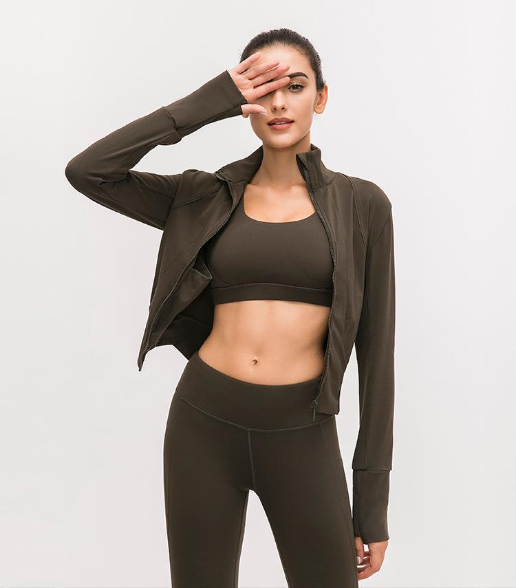 Forest Green On The Move Zipper Jacket Jackets Mindfulness-HOP Activewear