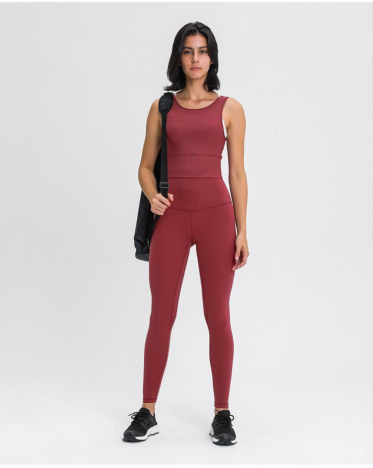 Deep Crimson Red Dosha Full Length High Waist Leggings Yoga Pants Mindfulness-HOP