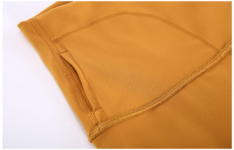 Golden Wheat Brown Dosha Full Length High Waist Leggings Yoga Pants Mindfulness-HOP