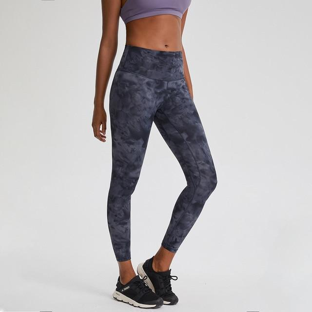 Black Tie Dye Max High Waist Leggings Yoga pants Mindfulness-HOP Activewear Tie Dye Black Ash Size2-XXS