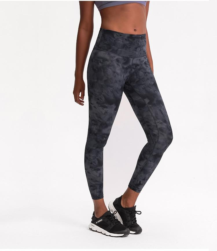 Black Tie Dye Max High Waist Leggings Yoga pants Mindfulness-HOP Activewear