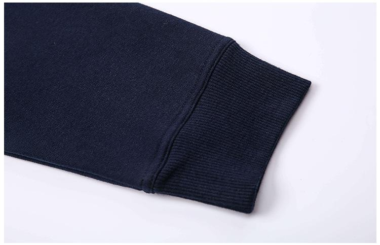 Navy Blue Cozy Fleece Long Sleeve Hoodie Hoodies Mindfulness-HOP Activewear