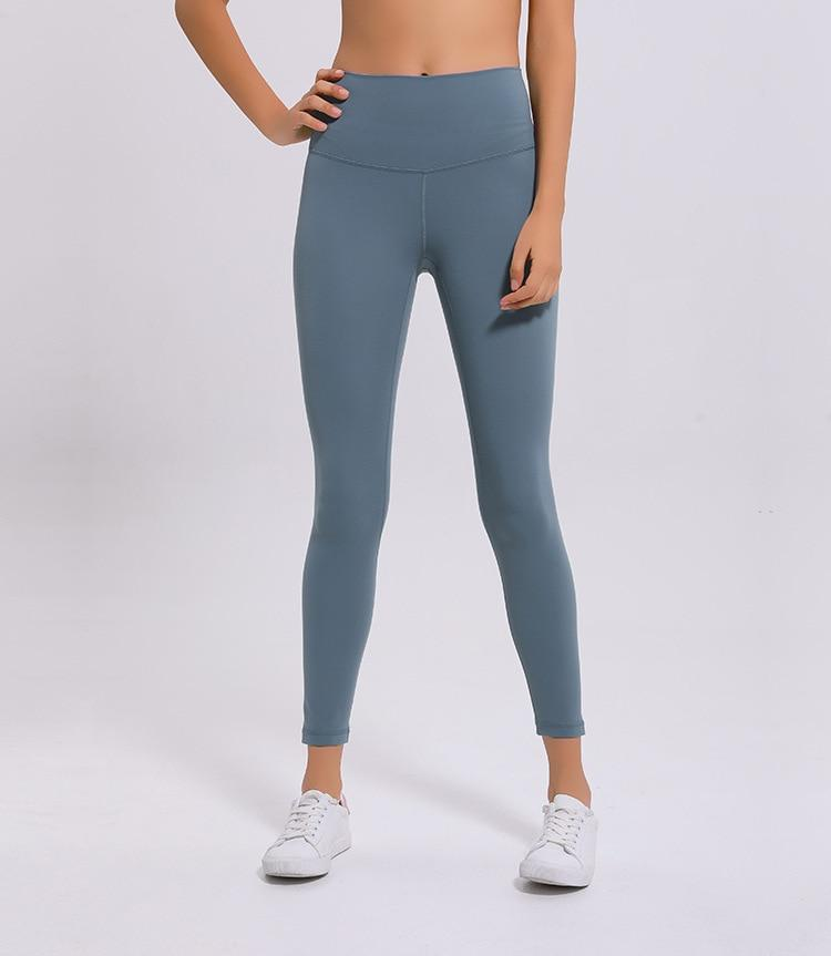 Cerulean Blue Rythm High Waist Leggings Yoga pants Mindfulness-HOP Activewear