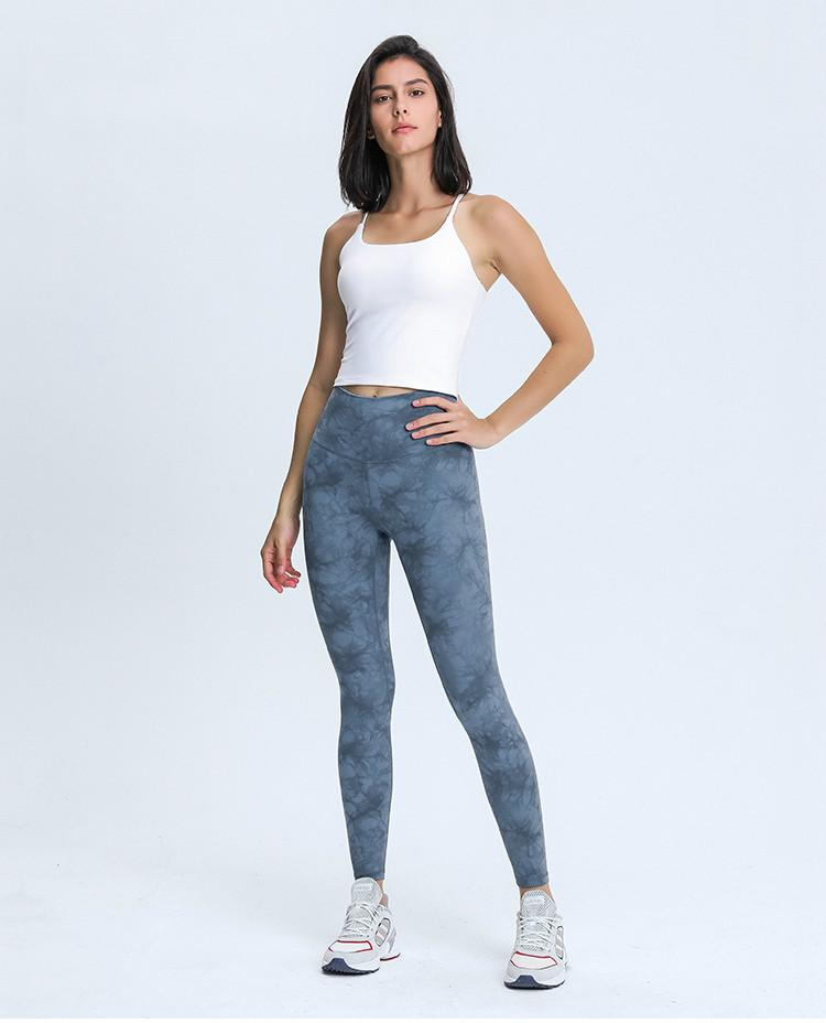 Crystal Blue High Waist Leggings Mindfulness-HOP Activewear