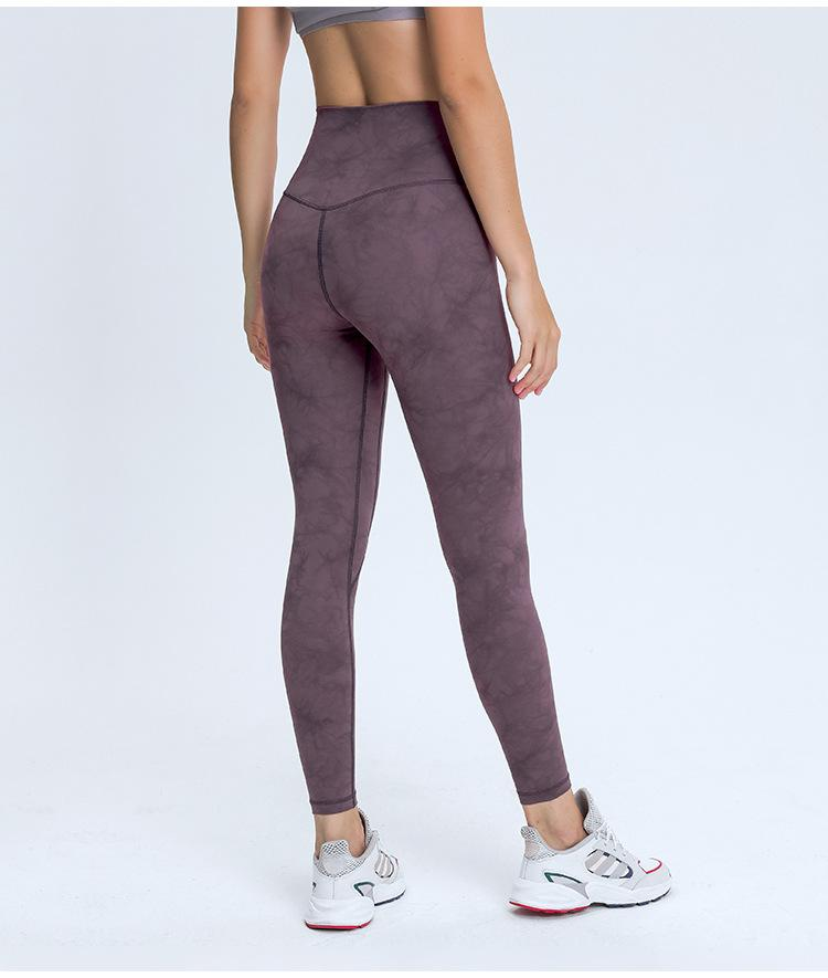 Crystal Red High Waist Leggings Mindfulness-HOP Activewear