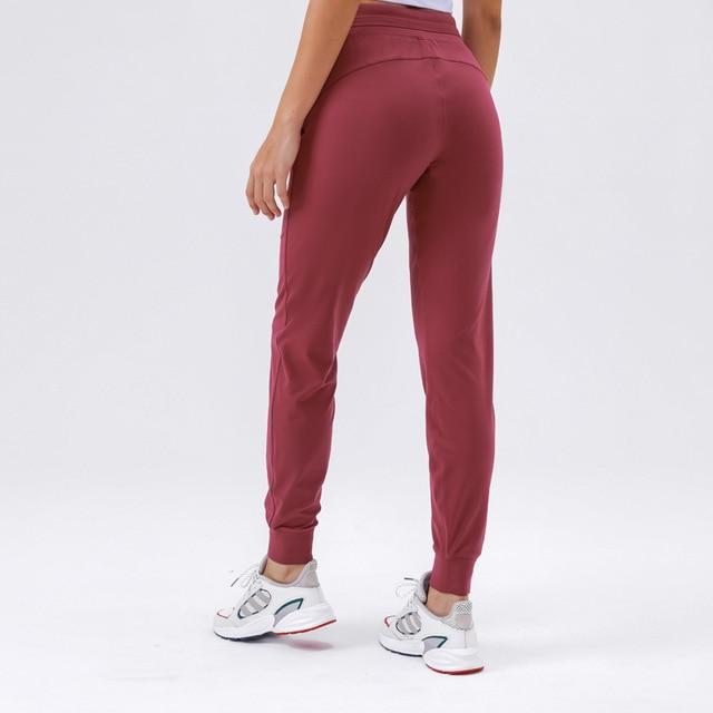 Deep Crimson Ikigai Sweatpants Yoga pants Mindfulness-HOP Activewear L Red United States
