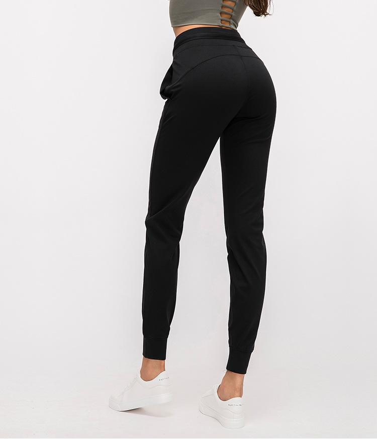 Black Ikigai Sweatpants Yoga pants Mindfulness-HOP Activewear