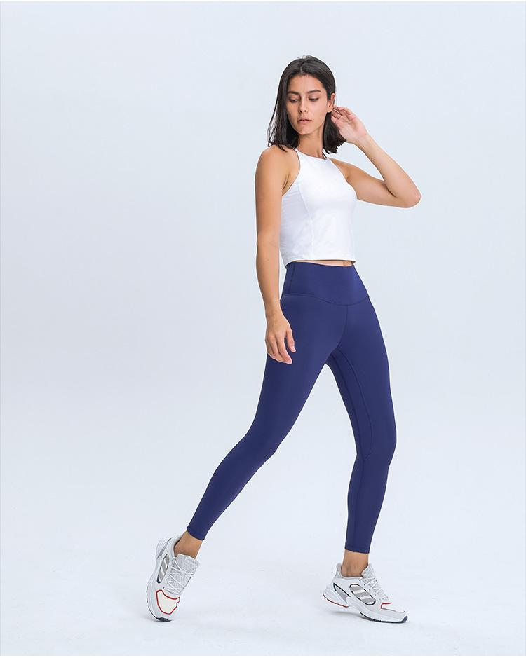 Dark Blue Warm Winter High Waist Leggings Yoga pants Mindfulness-HOP Activewear