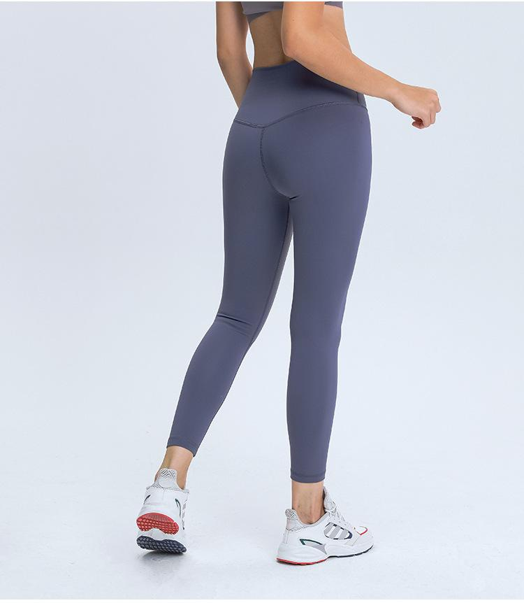 Lilac Gray Warm Winter High Waist Leggings Yoga pants Mindfulness-HOP Activewear