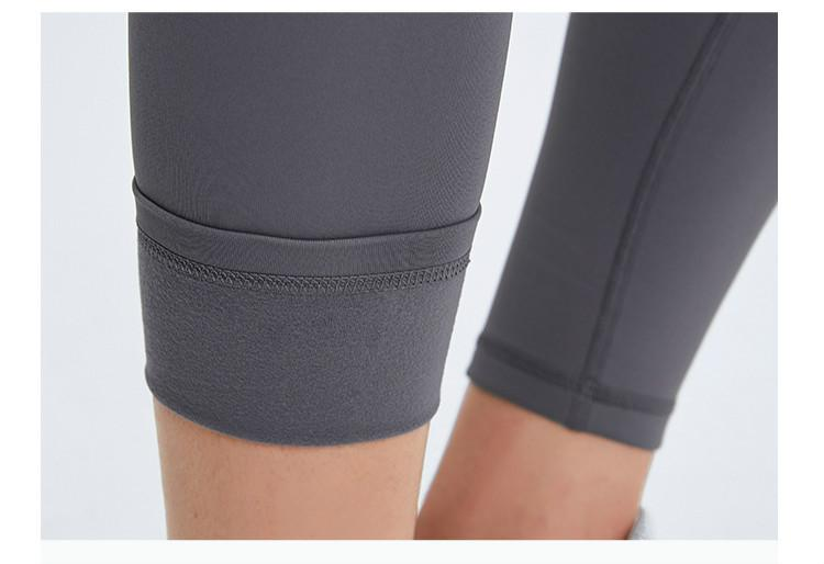 Dark Gray Warm Winter High Waist Leggings Yoga pants Mindfulness-HOP Activewear