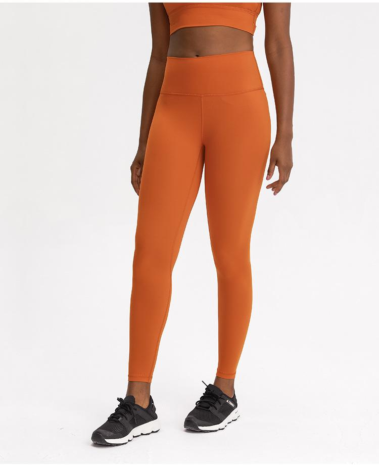 Orange Rythm High Waist Leggings Yoga pants Mindfulness-HOP Activewear
