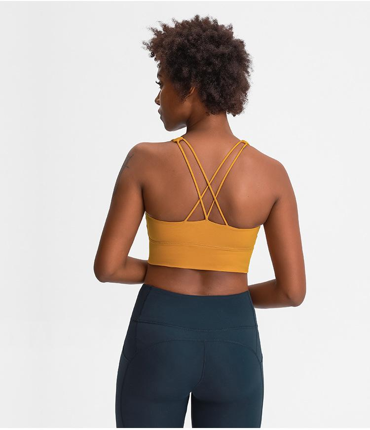 Golden Wheat Brown Mantra Sports Bra bras Mindfulness-HOP Activewear