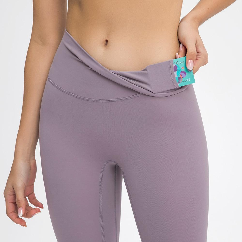 Leaden Pink Prana High Waist Leggings Yoga pants Mindfulness-HOP Activewear