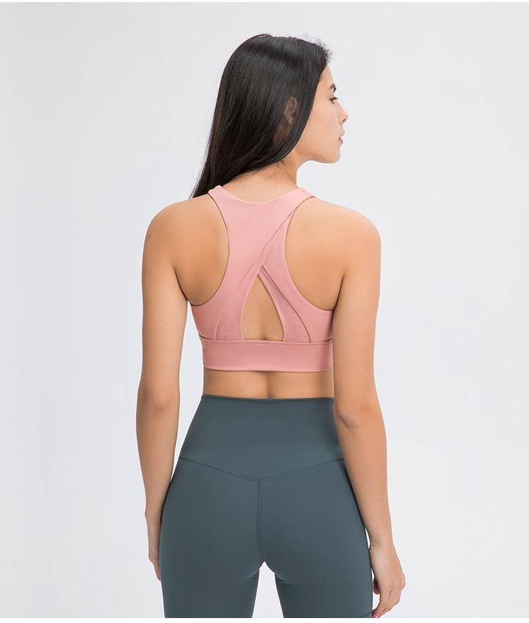 Sugar Pink Summer Asana Sports Bra bras Mindfulness-HOP Activewear
