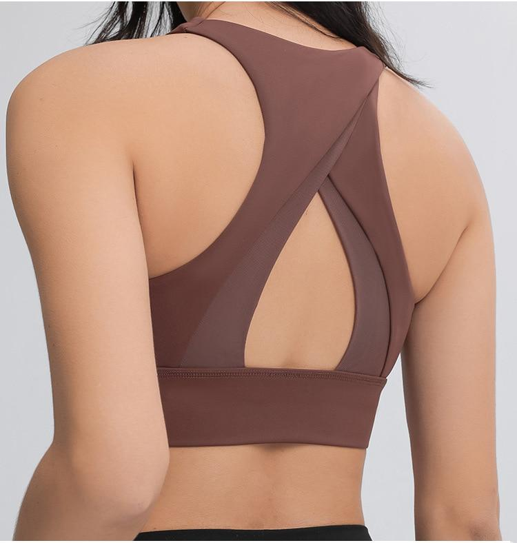 Rust Brown Summer Asana Sports Bra bras Mindfulness-HOP Activewear