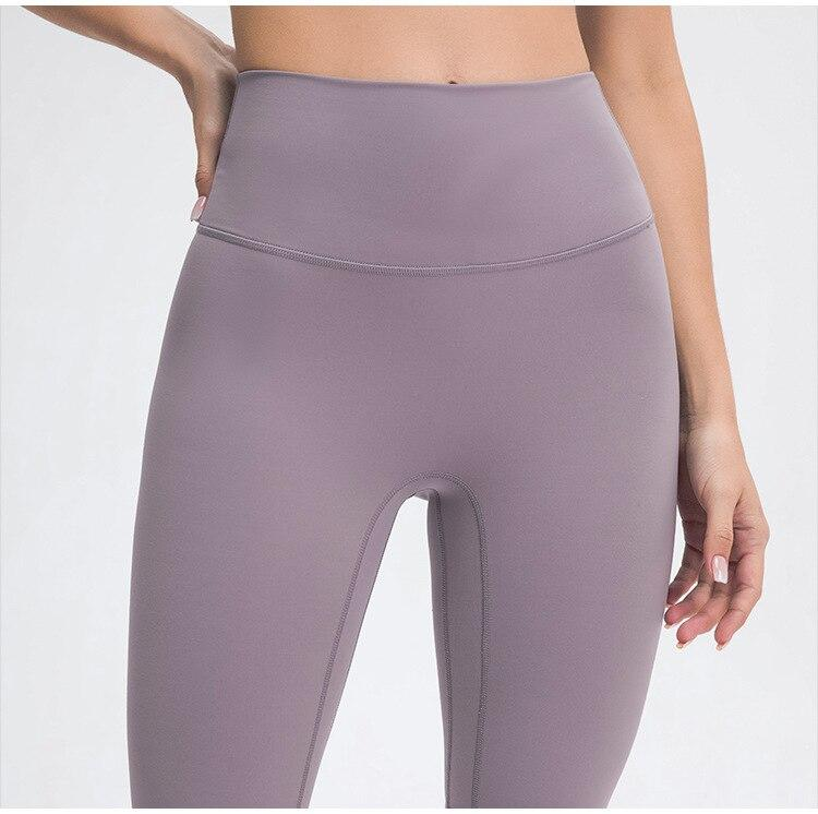 Leaden Pink Mindfulness No Camel Toe High Waist Biker Shorts bikers Mindfulness-HOP Activewear