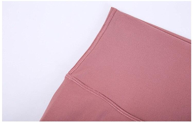 Lotus Red Mindfulness No Camel Toe High Waist Biker Shorts bikers Mindfulness-HOP Activewear