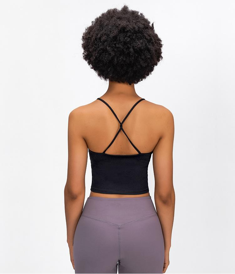 Black Shakti Padded Crop Top Tops Mindfulness-HOP Activewear