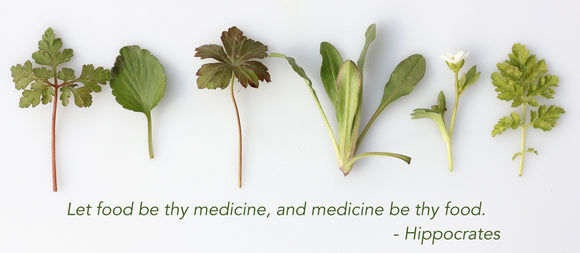 Quote from Hippocrates. Let food be thy medicine, and medicine be thy food.