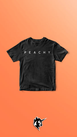 """PEACHY"" Unisex T-Shirt Black"