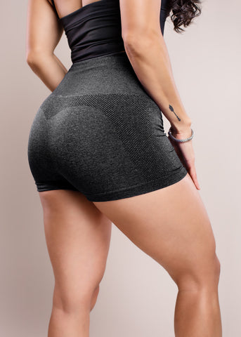 Black- Seamless Booty Shorts